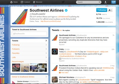 Only after sale ends does Southwest Tweet about Website Performance issues