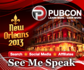 Confirmed Speaker for Pubcon New Orleans 2013