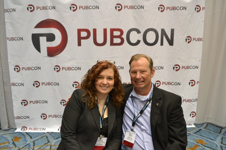 Rebecca with Brett Tabke ‏Founder and CEO of PubCon