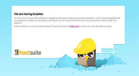 HootSuite and other social media apps down with Amazon Cloud failure