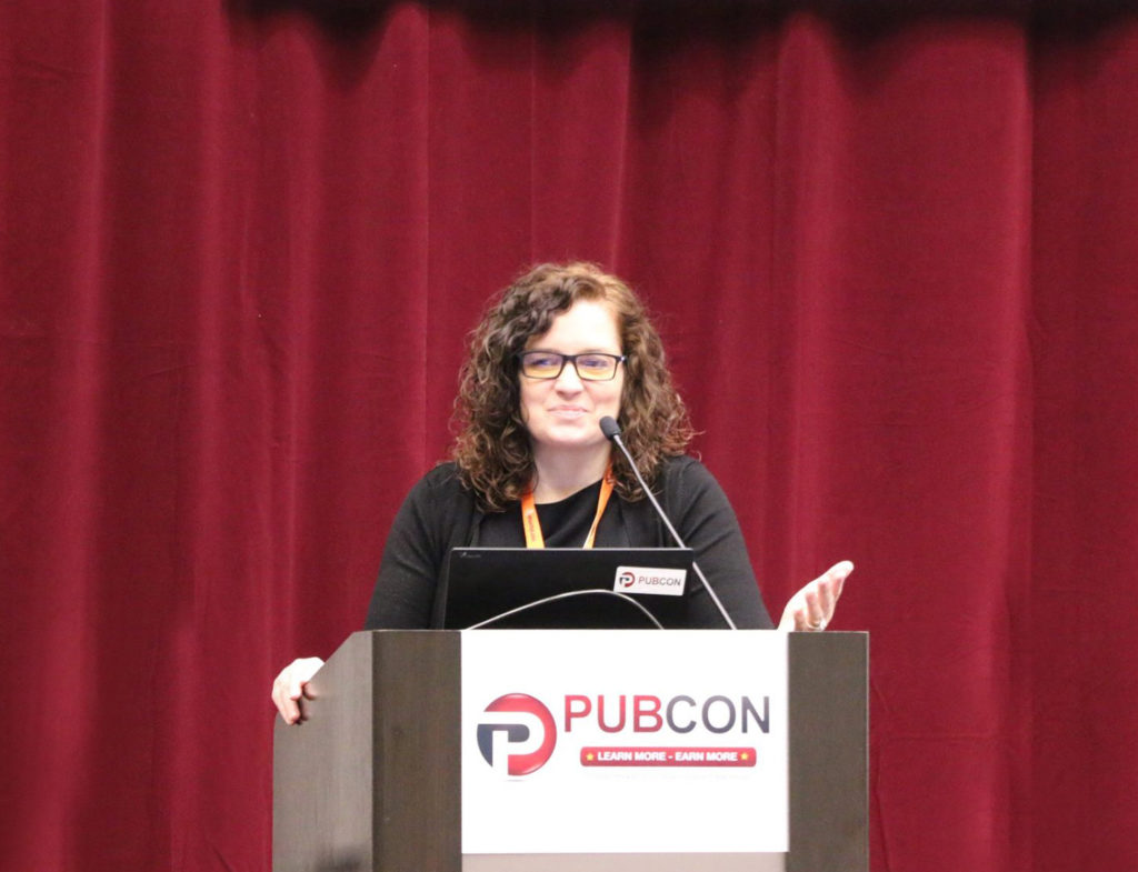 Marketing keynote speaker Rebecca Murtagh at Pubcon