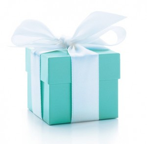 signature box of the Tiffany & Co. brand
