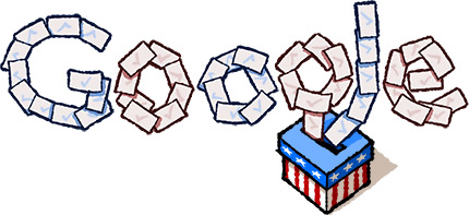 Google Doodle helps to get out the vote!
