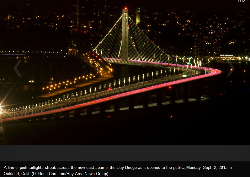 San Francisco Bay Bridge re-opens.