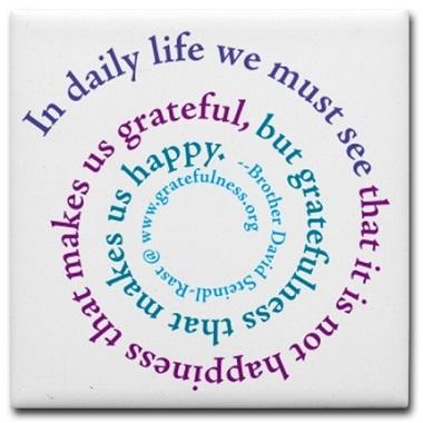Gratitude Makes us Happy