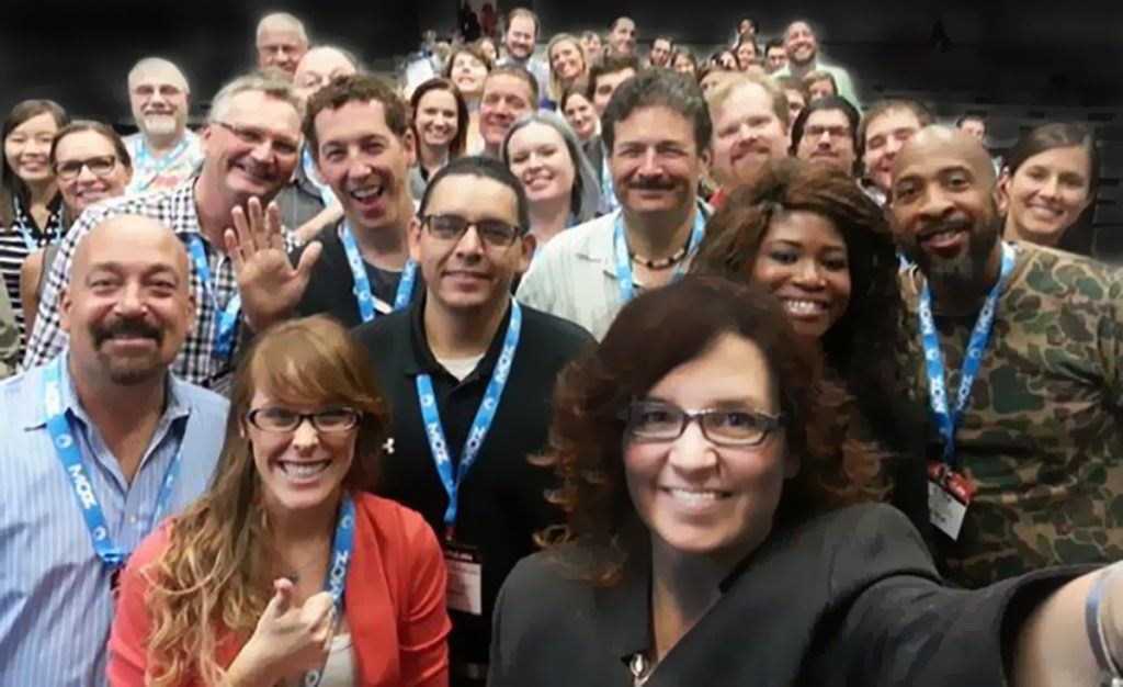 Rebecca Murtagh speaker selfie with conference attendees