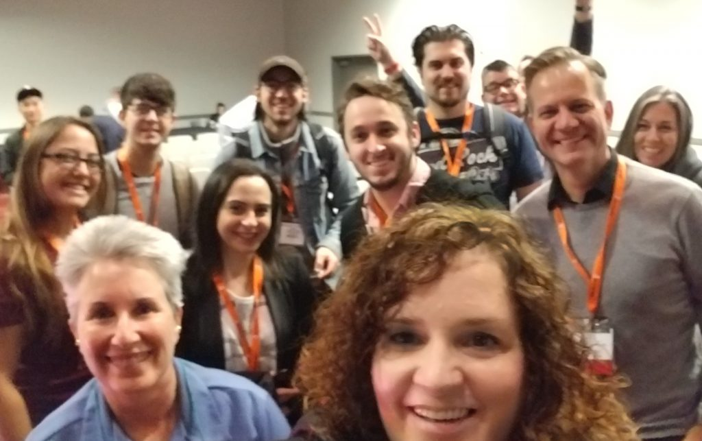 Rebecca Murtagh selfie after Pubcon Las Vegas speaking