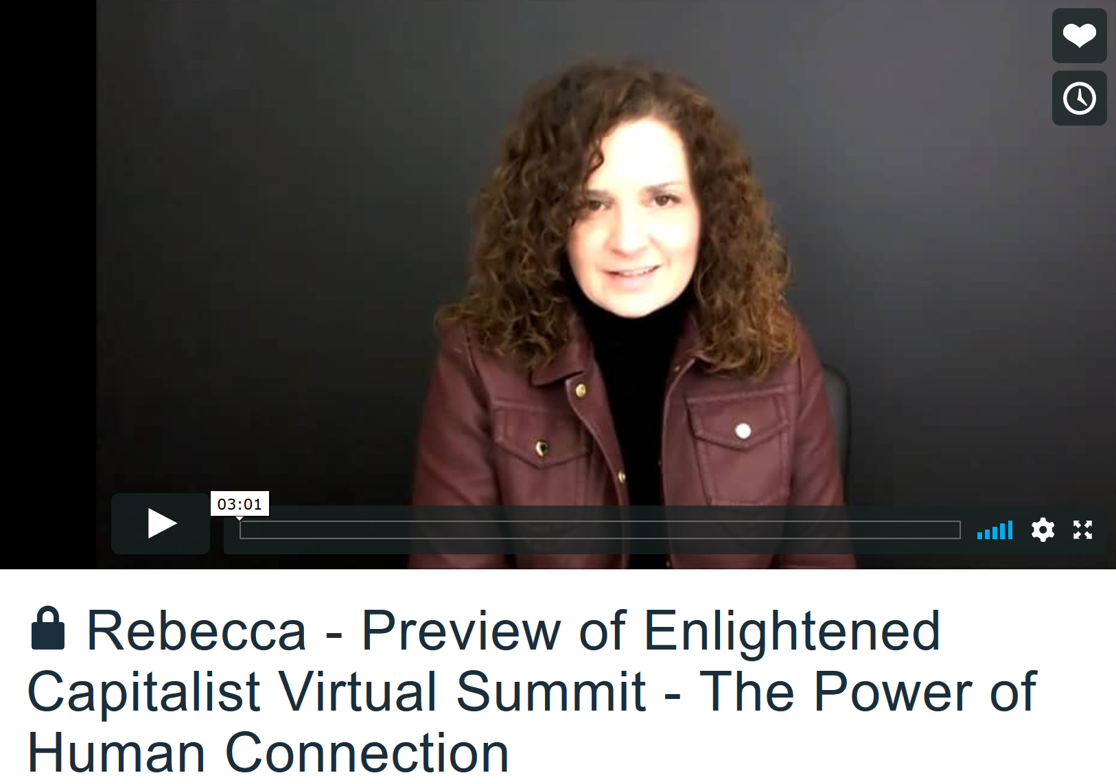 Rebecca Murtagh delivers keynote to Enlightend Capitalist Summit